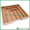 FB5-1046 Kitchen expandable bamboo drawer cutlery tray,utensils box