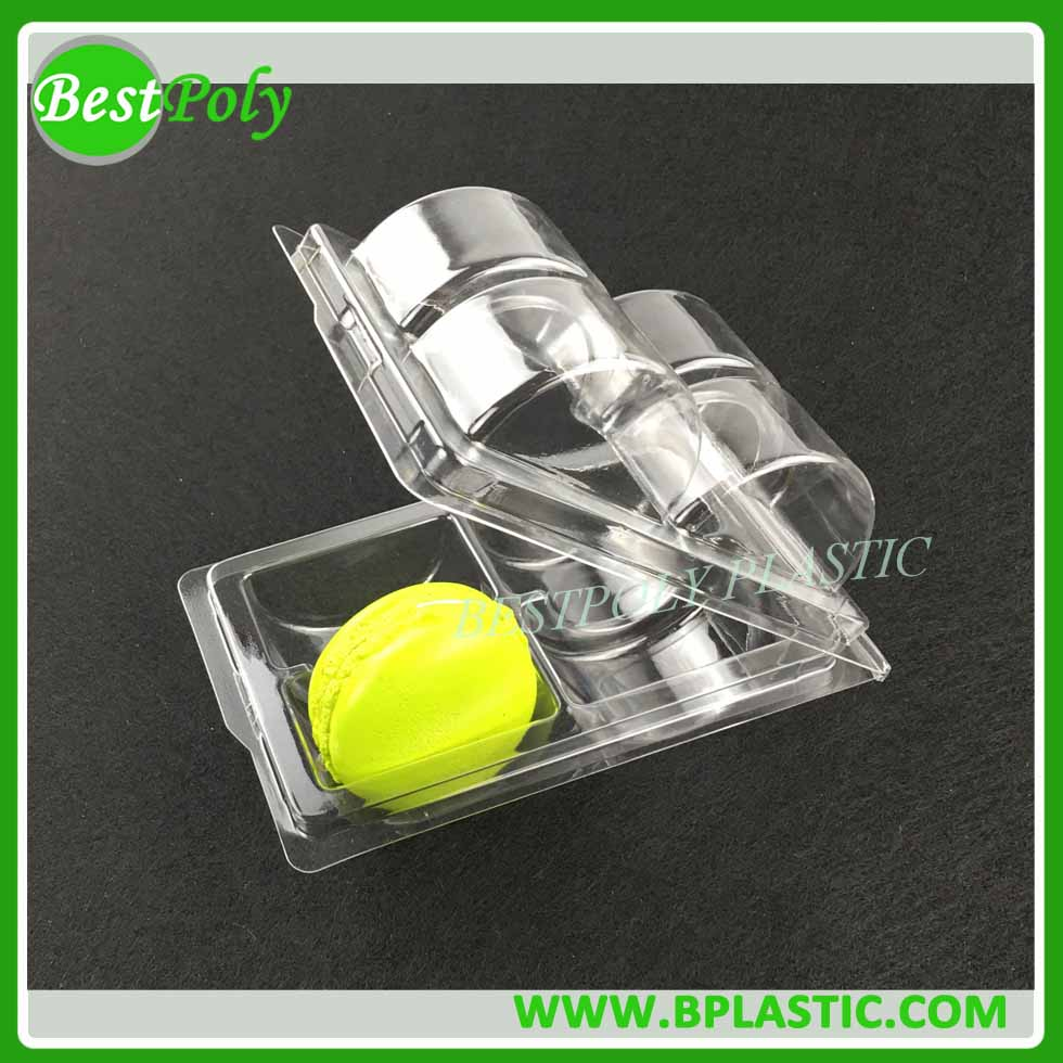 HOT SALE 4 6 12 MACARONS PLASTIC BLISTER CLAMSHELL TRAY PACKAGING
