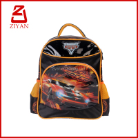 Hot sell car pic kids children cheap school bags 2016