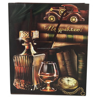 Custom printed wine bottle paper bags