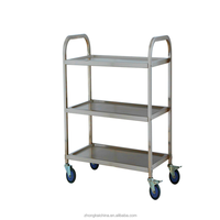 Hotel/Restaurant stainless steel kitchen food serving trollery cart with Carts