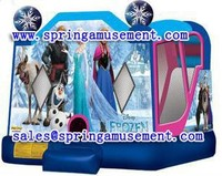 Frozen inflatable combo, inflatables, inflatable bouncer with slide SP-C4004