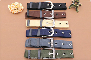 China factroy wholesale custom webbing belt with eyelets belts