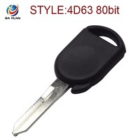AK018050 car key blank for Ford with 4D63 80bit chip