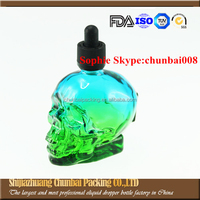 Multifunctional pure nicotine liquid 30ml skull e cig liquid bottle