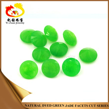 Wholesale Price Natural Round Shape Dyed Green Nephrite Jade Rough