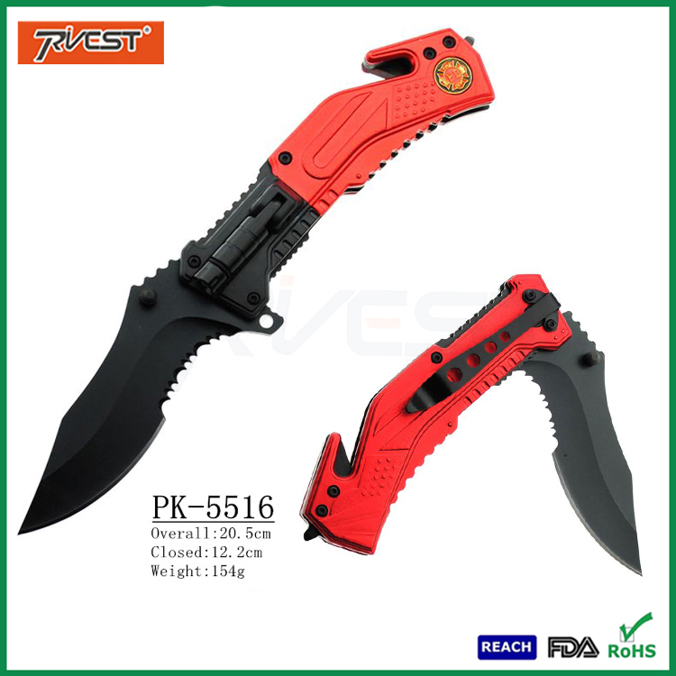 Outdoor Camping Multi Purpose Folding Survival Knife with Led Light