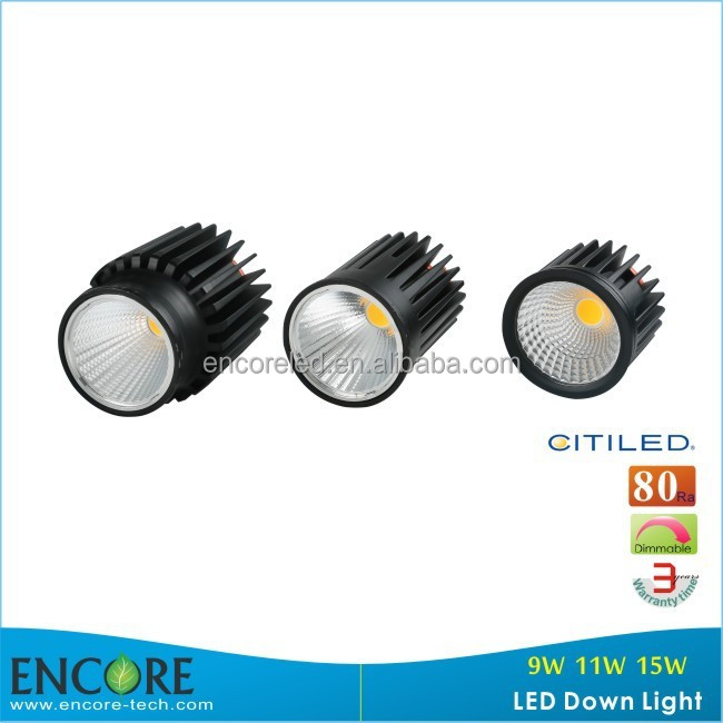 With cut out 90mm White CITIZEN IP44 15W Kitchen COB LED downlight