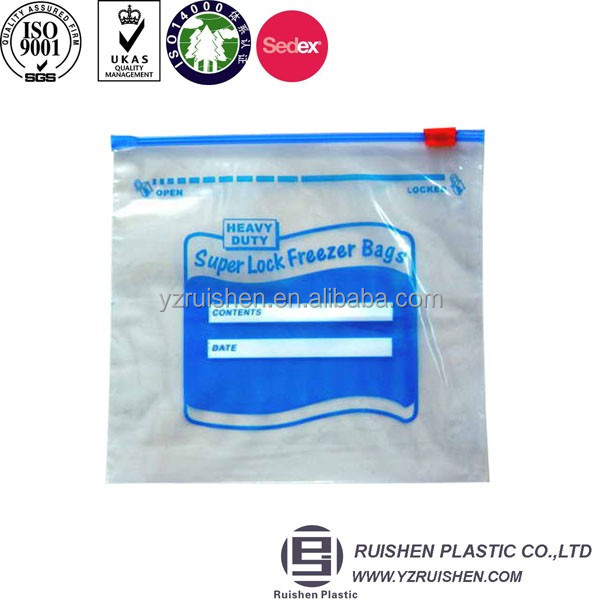 PE Material Slider Packing Bag Can Be Written