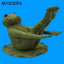Wholesale resin Yoga Frog for Garden decoration Statues Boat Pose Frog