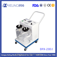 DFX-23D.I CE approved Medical Electrical aspirator Portable Phlegm Suction Machine/Unit/Pump