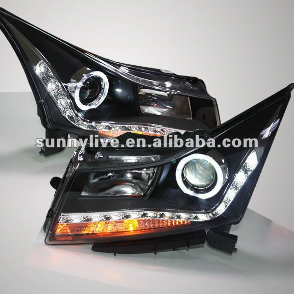For CHEVROLET Cruze LED Headlight Angel Eyes 2009-2011 V5 Type