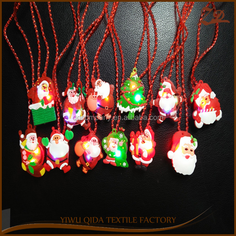 New Led Flashing Christmas Party Decro Glow Christmas necklace