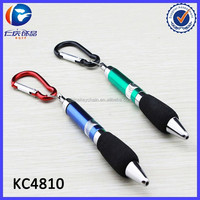 High Quality Ballpoint Pen Multi-function Carabiner Keychain