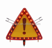 flashing safety reflector triangle led warning triangle