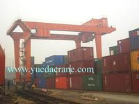port lifting container crane 40 ton rubber type gantry crane