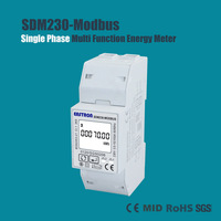 SDM230-Modbus Single Phase Bi-directional PV Energy Meter, Mono Fase Multifunction Meter, MID Meter