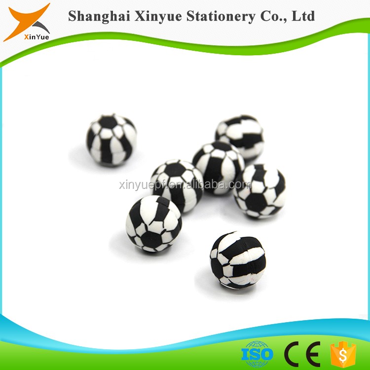 cute 3d football pencil eraser kid toys shaped eraser puzzles