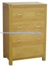 Rizhao Harmony solid oak light color multi-drawer wooden chest