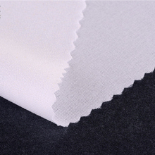45g50D plain adhesive lining 100% polyester linings for women's dress and dress in summer