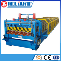 Energy Saving Professional Roll Forming Machinery For Step Tile Roof With High Efficiency