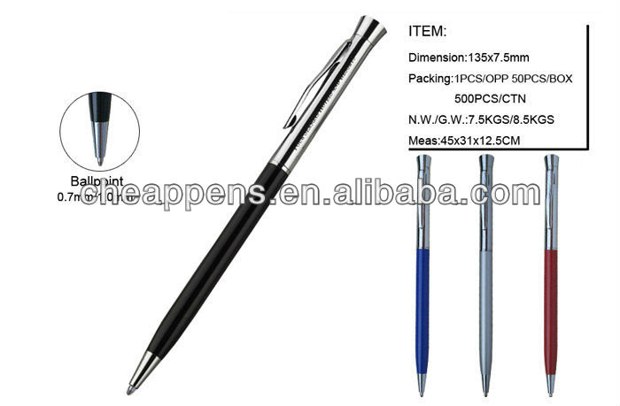 logo printed metal Convention hotel pen