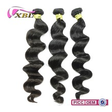 XBL Excellent Quality Virgin Remy Loose Wave Peruvian Braiding Hair Weaving