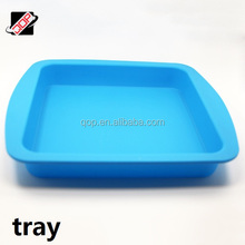 Food grade flat baking trays silicone cake pans non-stick heat resistant silicone baguette baking tray