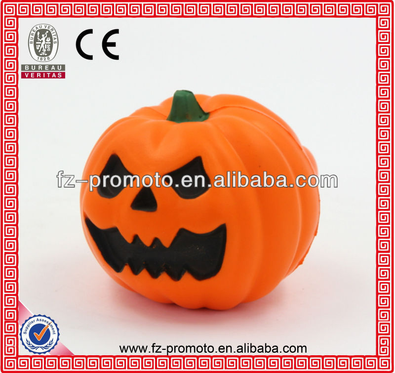 decorative pu anti-stress pumpkin pu stress toys