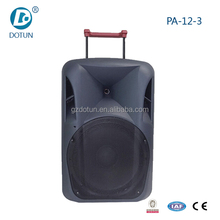 PA system 15 Inch outdoor trolley speaker with subwoofer