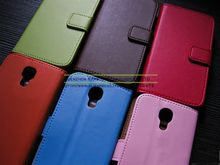 Card Slot Genuine Flip Real Leather Phone Case Cover for Samsung Galaxy S4 Mini i9190