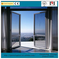 Colored window glass Aluminium Profile casement window with double glazing colored window glass