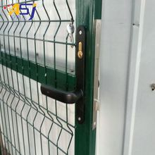 PVC fence gate galvanized flat panel fence gates