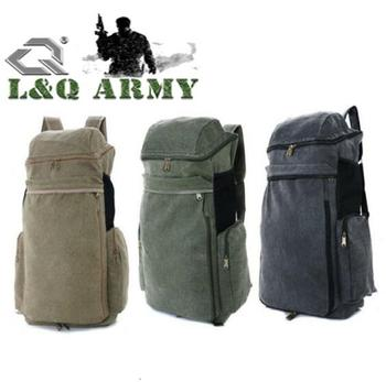 New Military Large Capacity Cotton Canvas backpack
