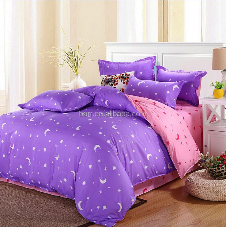 home supplies cotton/polyester Cover Bed Sheet Pillowcase Bedding Set