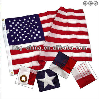 custom embroidered flag with nylon fabric