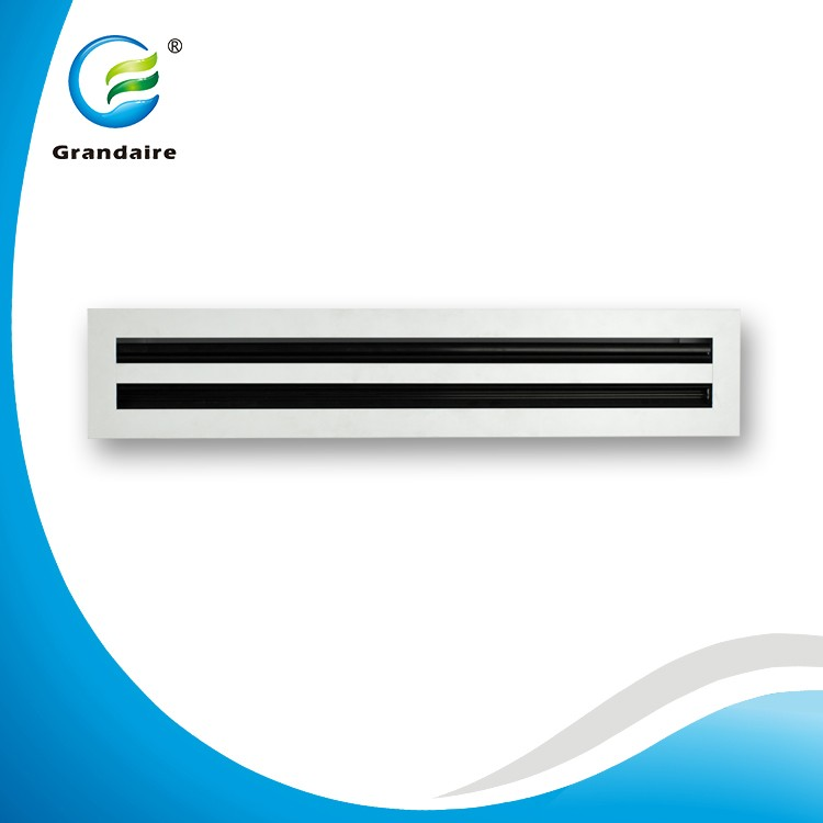 China Factory Aluminum Air Ceiling Register Linear Slot Diffuser Supply and Exhaust Grille for Side Wall in White Color