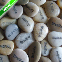 Natural River Rocks Engraved Words River Stone