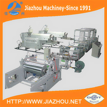 One or Two Side T Die Extruder Plant Line PP PE Film Lamination Woven PP Sack Machine