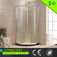Aluminum frame round shape sliding shower enclosure cabin