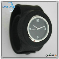 Best quality promotional price your own logo silicone slap western wrist watches