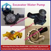 OEM PC200-6 excavator water pump 6D95 engine parts,piston,ring,connecting rod,cylinder block head