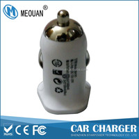 MEOUAN 5V3.1A dual USB ports white car charger for mobile phone and tablet