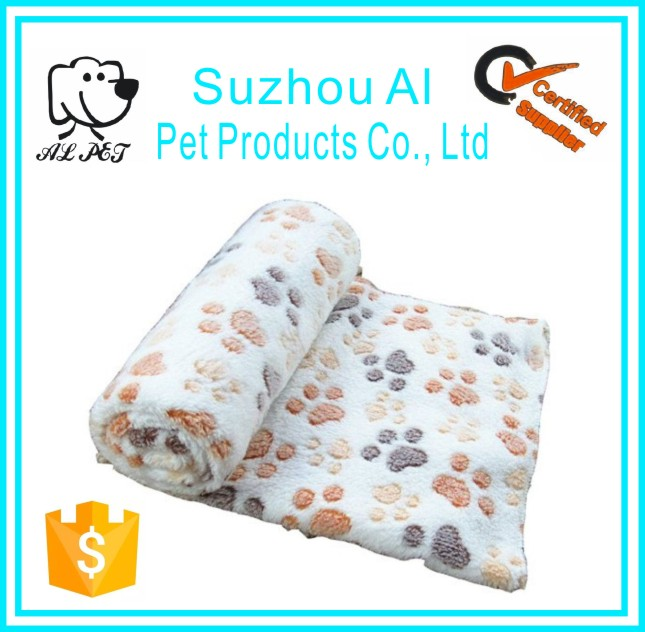 Warm Bed Mat Paw Print Cushion Soft Blankets Pet Cat Dog Blanket