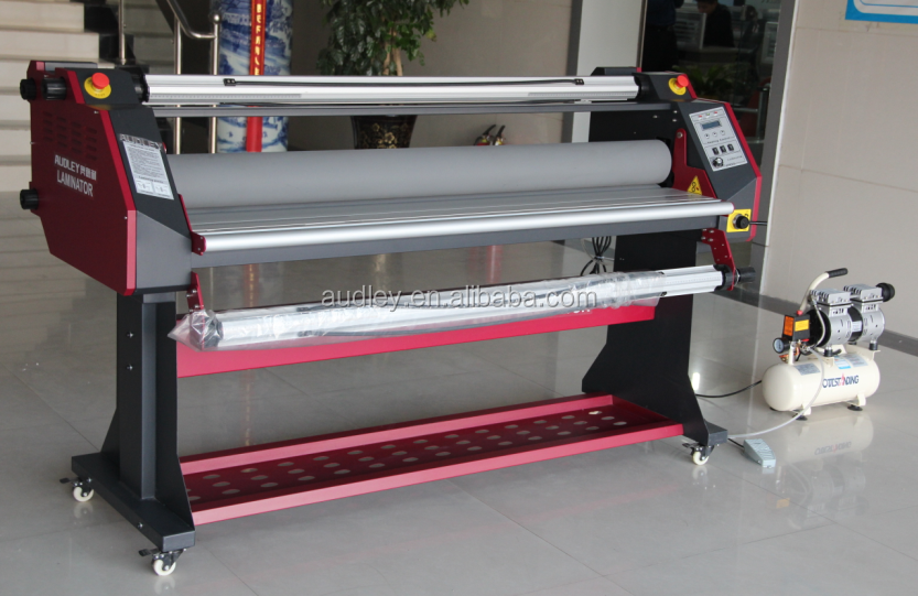Pneumatic Heating Roll to Roll Lamination , for graphics , printing <strong>paper</strong> and photos laminating machine ADL-1600H5+