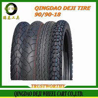 2016 New Qingdao DEJI factory motorcycle tire wholesale,china supplier motorcycle tire factory 90/90-18