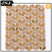 Buy mosaic pattern decorative wall tile,stainless steel glass ...