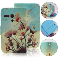 cute printing protective case for motorola moto g, flip cover case for moto g