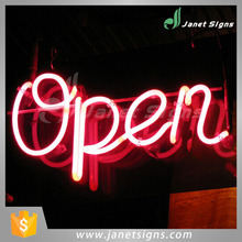 Glass neon opening sign for shop and night club