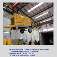 towable machine concrete hydraulic pumping with advanced configuration and reasonable price China supplier
